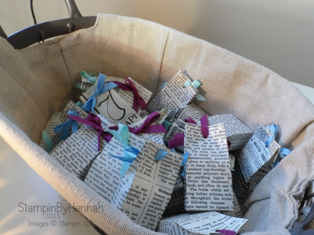 Stampin' Up! Telford swaps basket