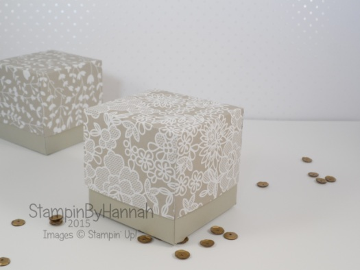Stampin' Up! UK wedding favours something borrowed designer series paper