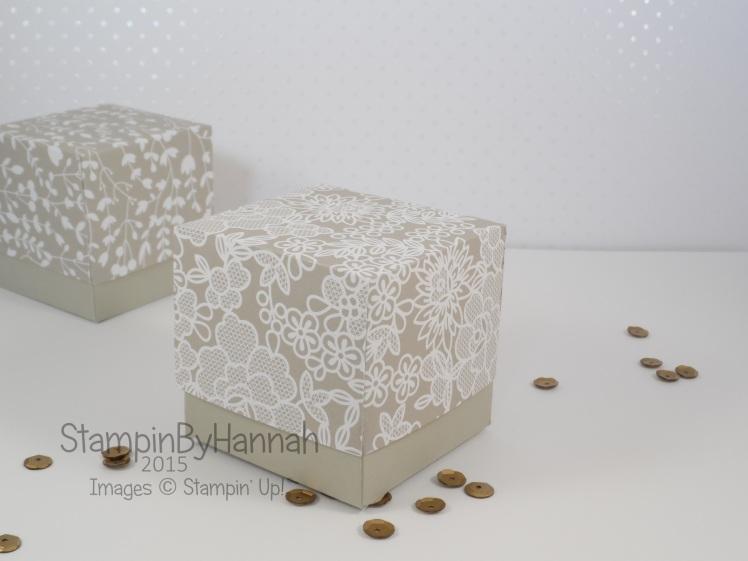 Stampin' Up! UK wedding favours something borrowed designer series paper