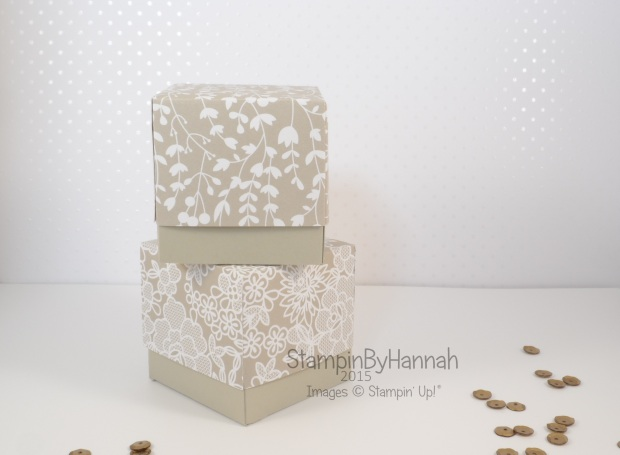 Stampin' Up! UK lided box video tutorial