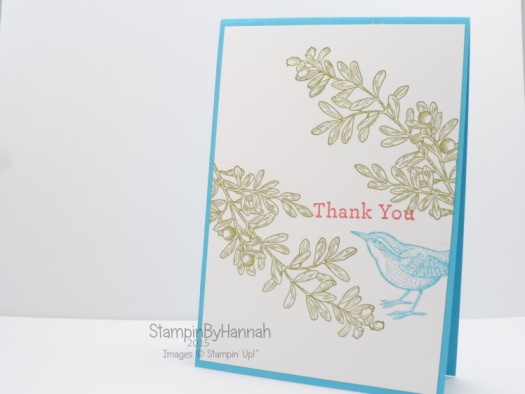 Stampin' Up! UK An Open Heart Thank You Card