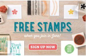 Stampin' Up! UK Free stamps
