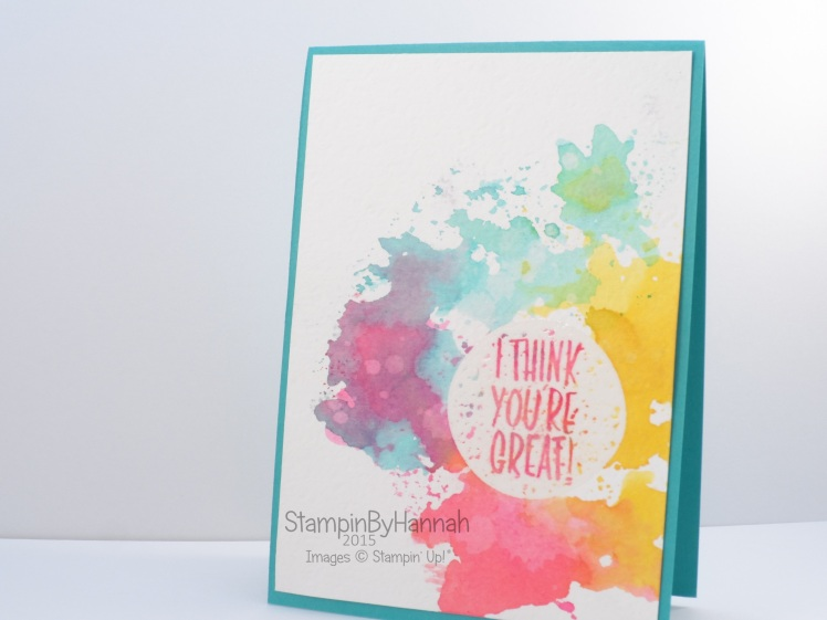Stampin' Up! UK I think your great ink smooshing