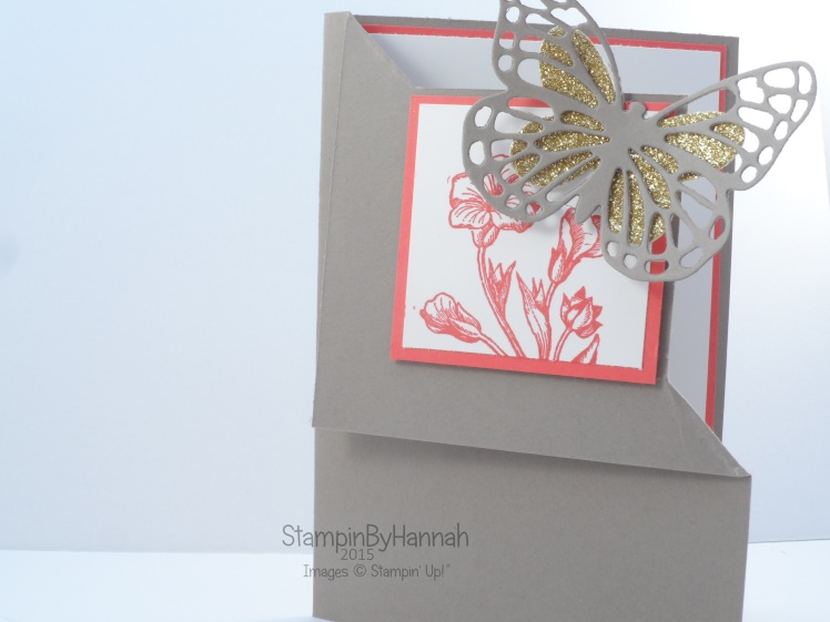 Stampin' Up! UK Corner Fold Fancy Fold card butterfly basics free workshop class