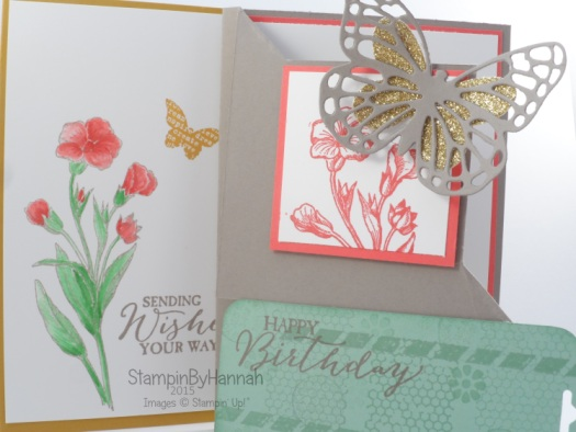 Stampin' Up! UK Butterfly Basics Corner fold card