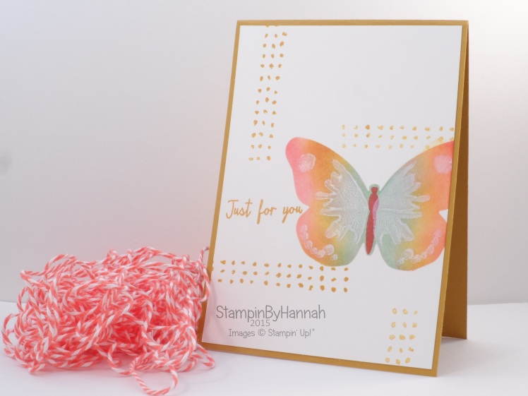 Stampin' Up! UK Watercolour wings video