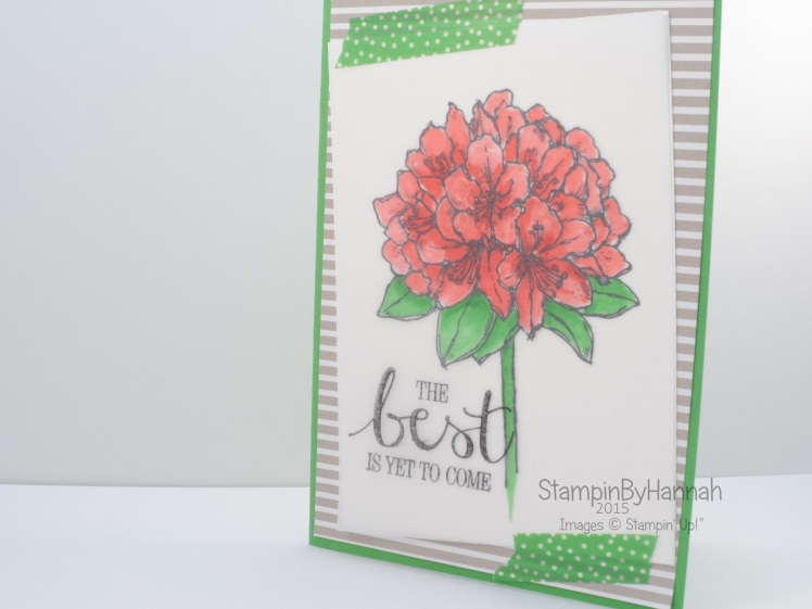 Stampin' Up! UK Best Thoughts blender pen on vellum