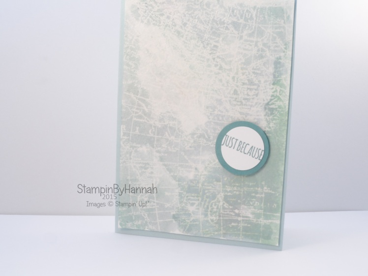 Stampin' Up! UK World Map watercoloured heat embossing
