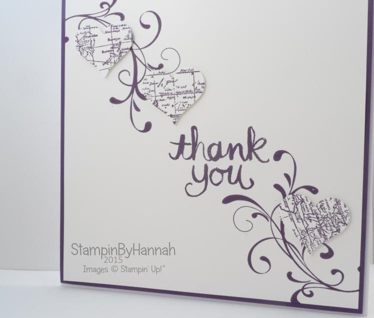 Stampin' Up! Uk Wedding thank you cards