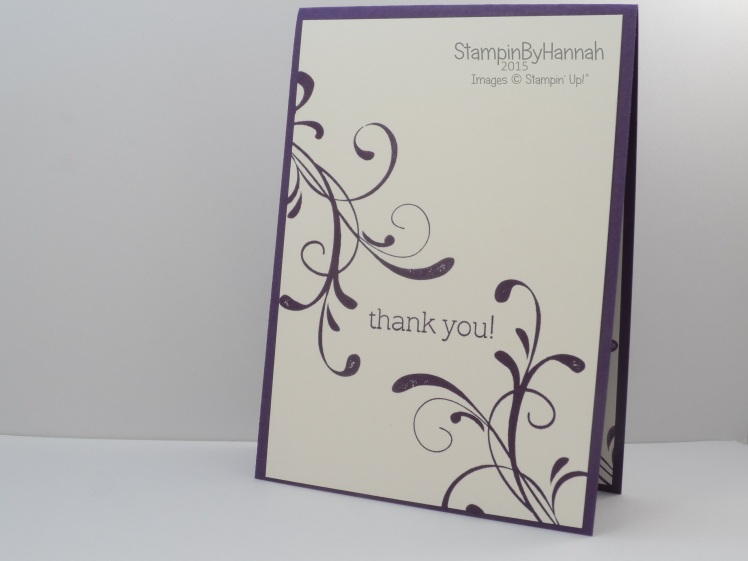 Stampin' Up! UK Everything Eleanor Wedding thank you