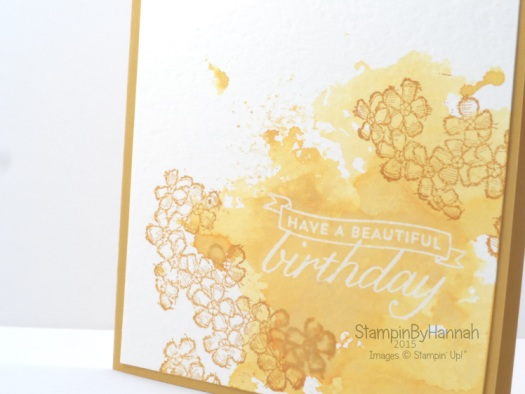 Stampin' Up! UK birthday blossoms