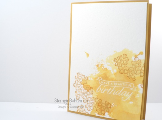 stampin' Up! Uk delightful Dijon birthday blossoms