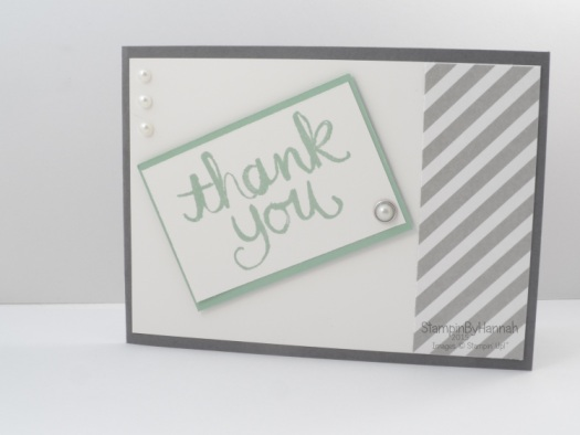 Stampin' Up! UK Cardmaking 101 Watercolour thank you