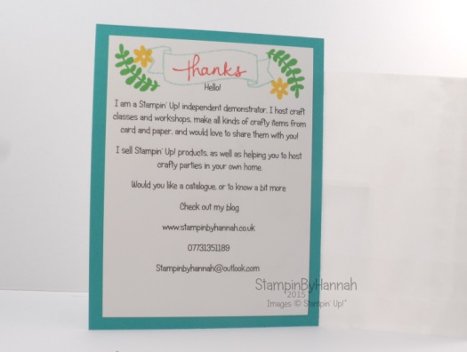 Stampin' Up! UK sketched dots tag a bag business cards