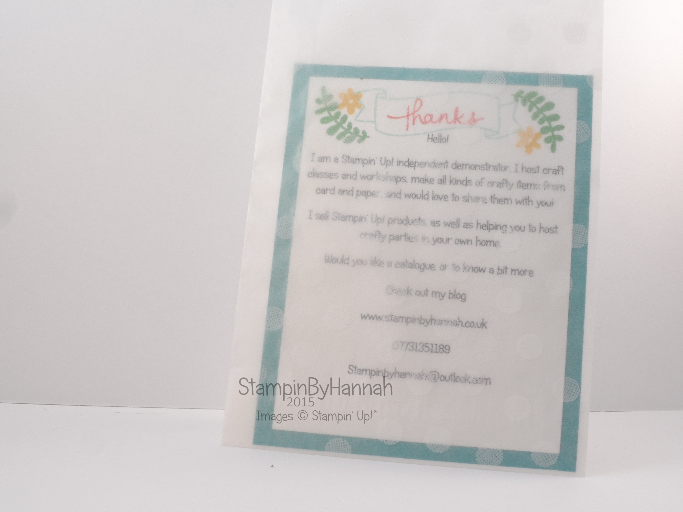 stampin up business cards images