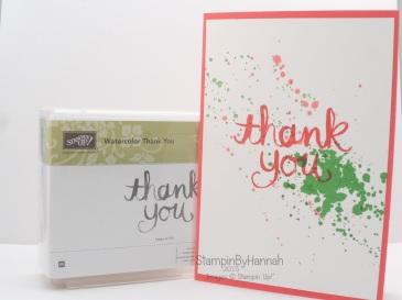 Stampin' Up! UK Ink Splatter Gorgeous Grunge Watercolour Thank you