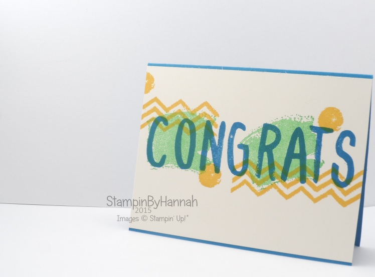 Stampin' Up! UK Layered Letters Work of Art