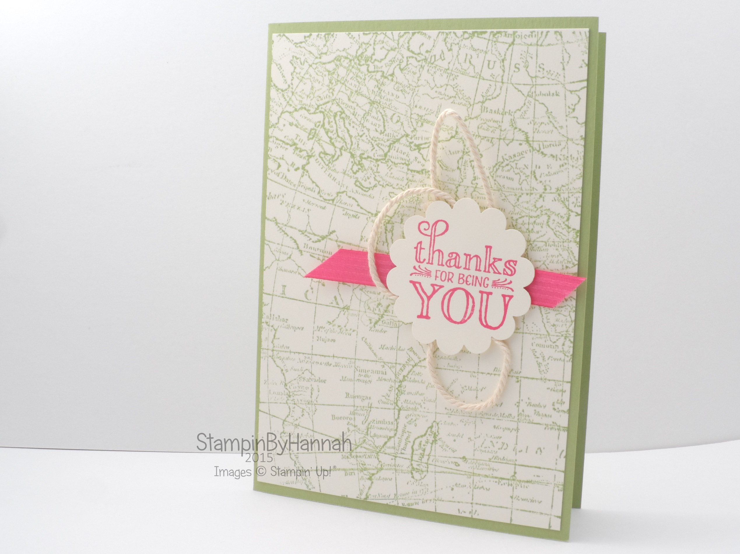 Thanks for being you stampinbyhannah stampin up uk demonstrator stampin up uk world map me grateful gumiabroncs Images
