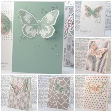 Stampin' Up! UK watercolour wings card class
