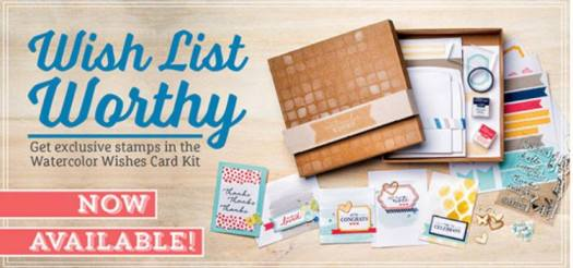 Stampin' Up! Watercolor wishes watercolour card kit