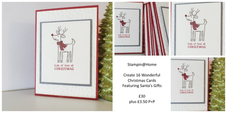 Stampin' Up! UK Stampin@Home class kit Christmas Cards