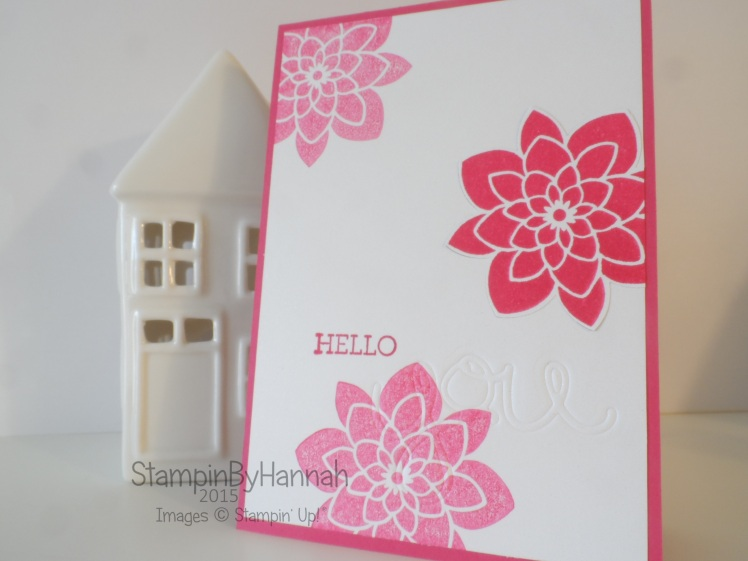Stampin' Up! UK Faux InLay Die Cutting Technique Tuesday