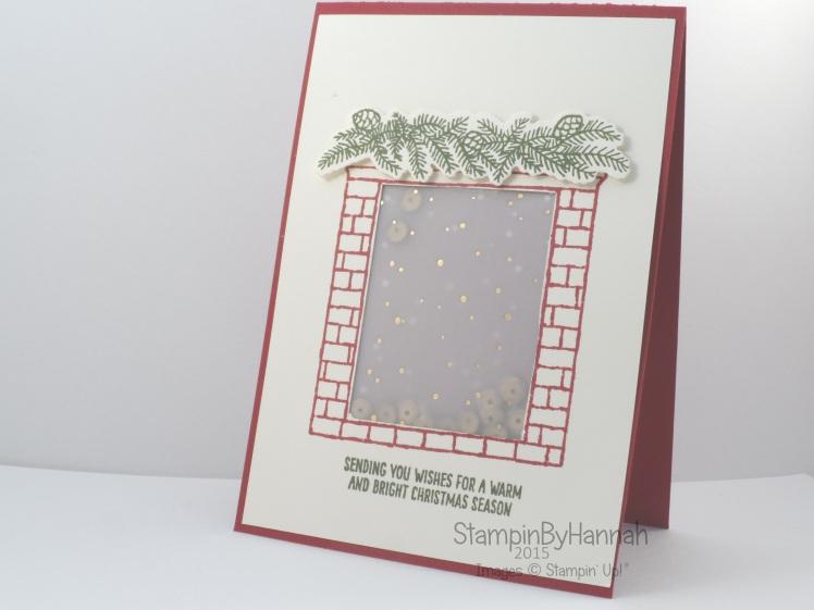 Stampin' Up! UK Festive Fireplace Shaker card