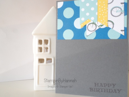 Stampin' Up! UK SchoolHouse Designer Series Paper Sketch Challenge Boys Birthday card