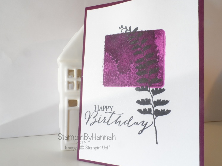 Stampin' Up! UK Acrylic Block Stamping Technique Tuesday Video Tutorial