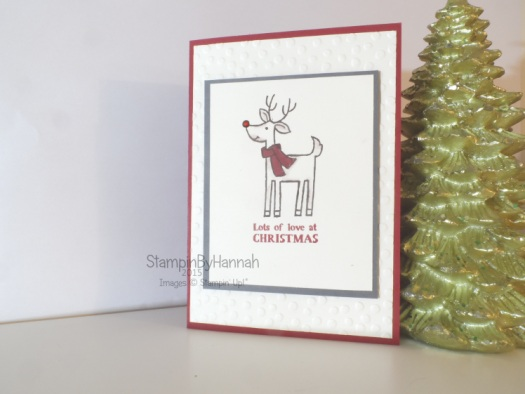 Stampin' Up! UK Santa's gifts mass produced christmas card video tutorial