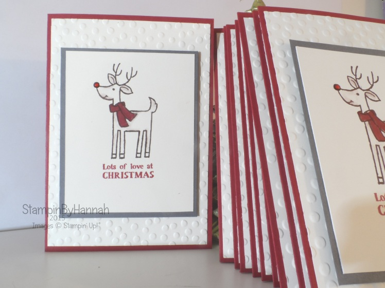 Stampin' Up! 12 Weeks of Christmas Santas gifts
