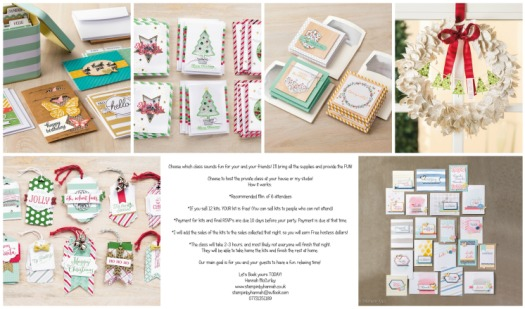 StampinByHannah Parties at home Teesside Stockton on Tees Craft Cardmaking Classes