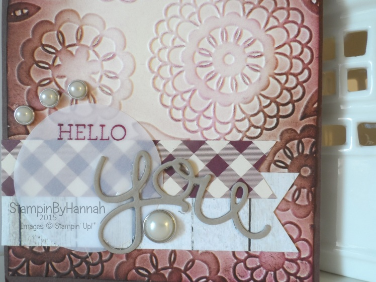 Stampin' Up! UK Simply Sketched Challenge Hello You