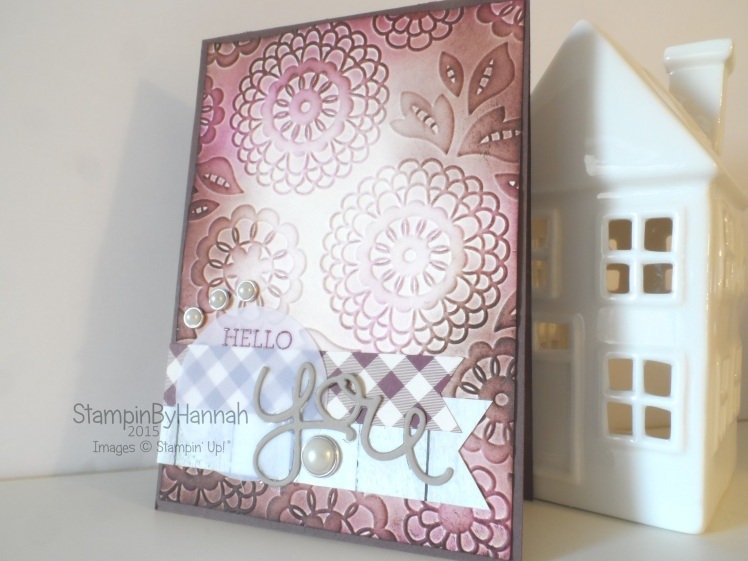 Stampin' Up! UK Sketch Challenge Lovely Lace Die cutting Card
