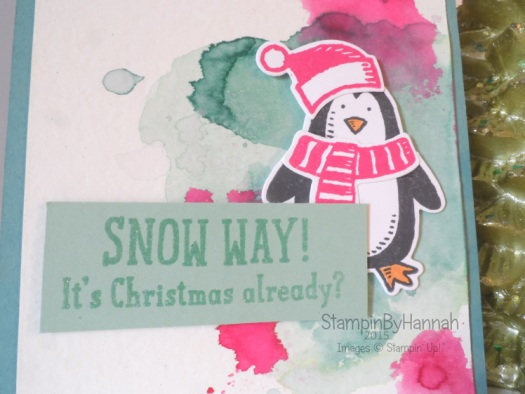 Stampin' Up! UK Snow Friends Christmas Card