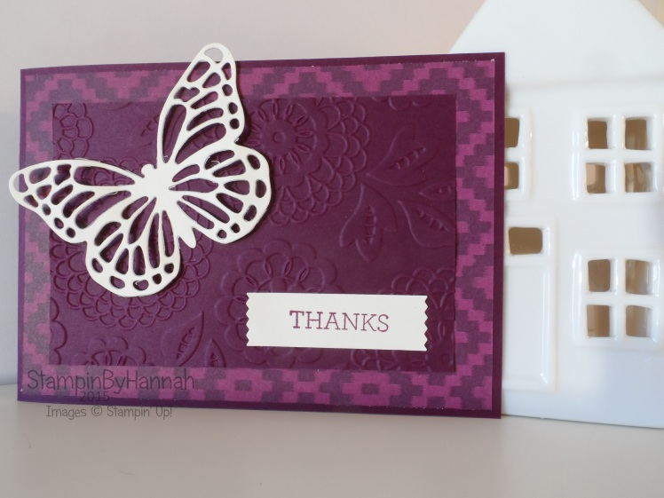 Stampin' Up! UK Die cutting video tutorial