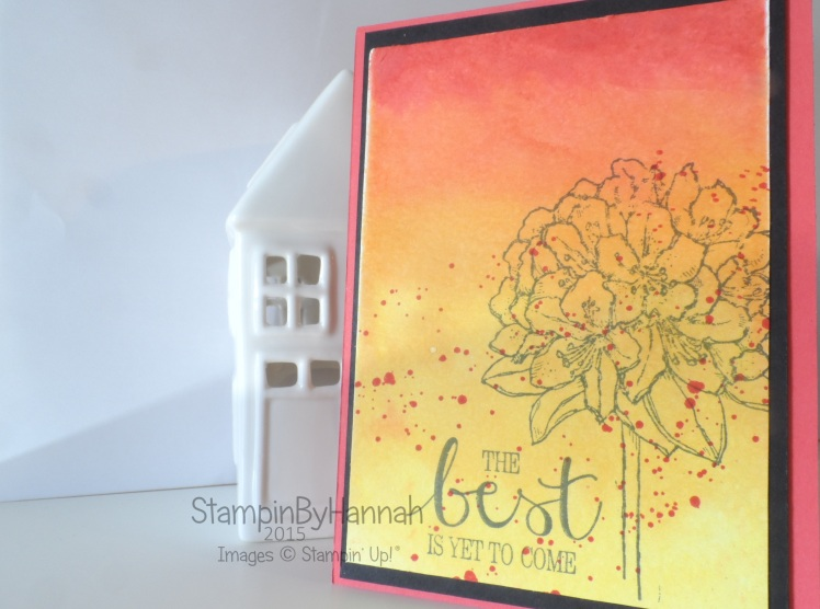 Stampin' Up! UK Watercolour background video tutorial