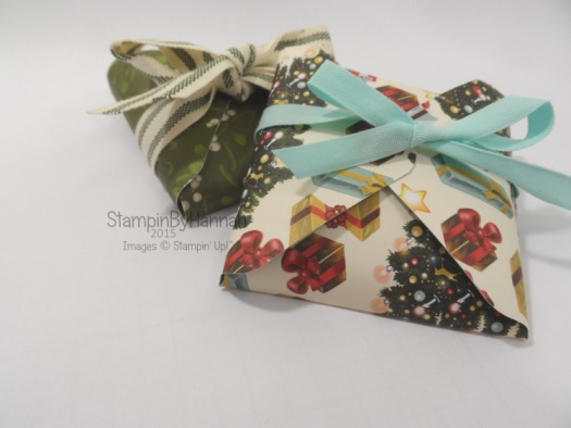 Stampin' Up! Chocolate envelopes using the envelope punch board