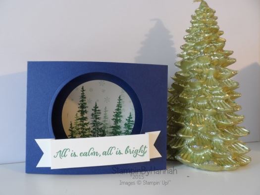 Stampin' Up! UK Christmas Diorama Video Tutorial