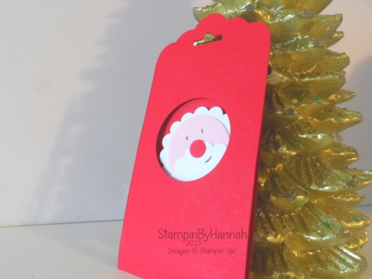 Stampin' Up! UK Punch art Christmas tag