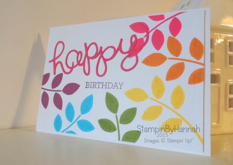 Happy birthday the awkward family member edition stampin up uk rainbow birthday card bookmarktalkfo Choice Image