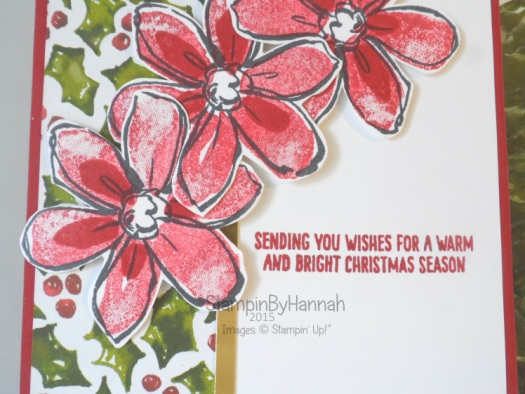 Stampin' Up! UK Garden In Bloom Christmas Card