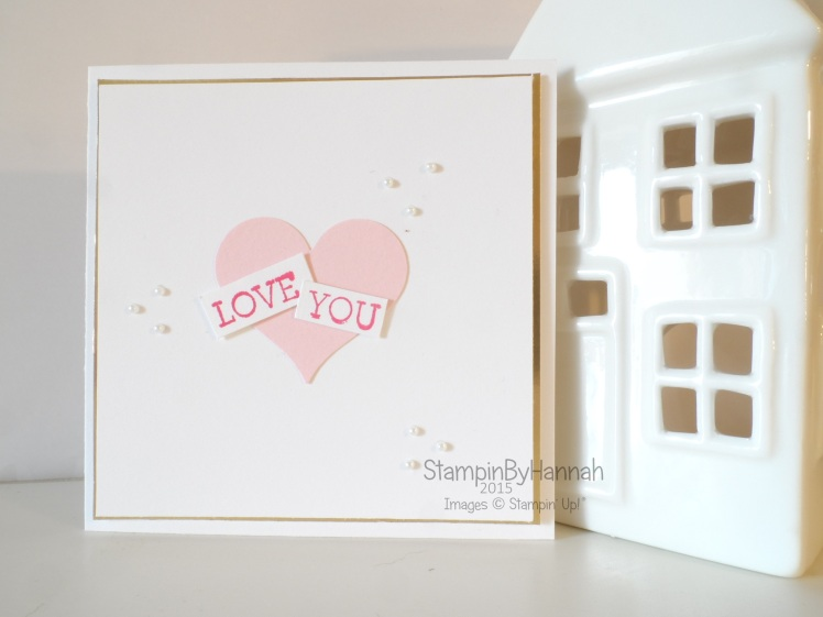 Stampin' Up! UK Love You Crazy About You card