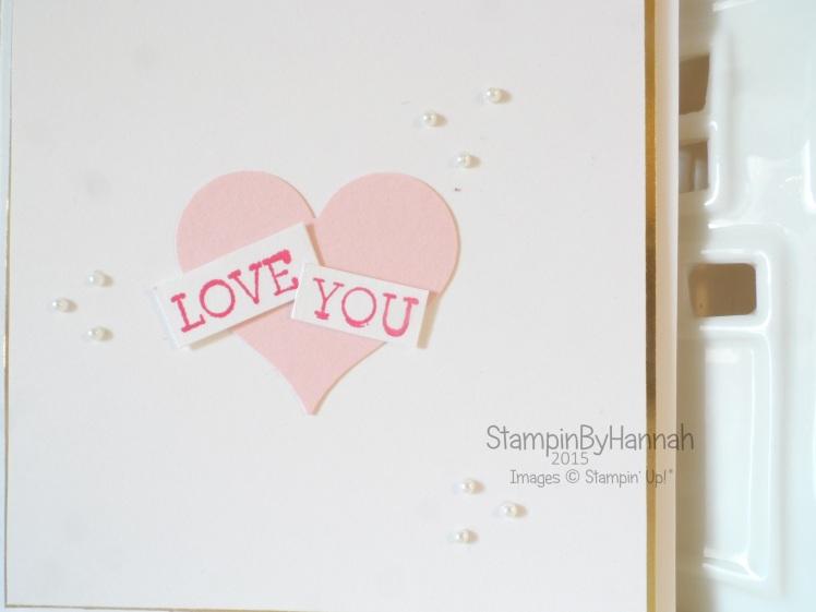 Stampin' Up! UK Valentines card
