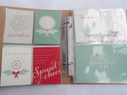 Stampin' Up! Hello December Project Life