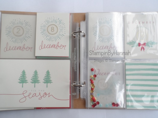 Stampin' Up! UK Memory Keeping Christmas project