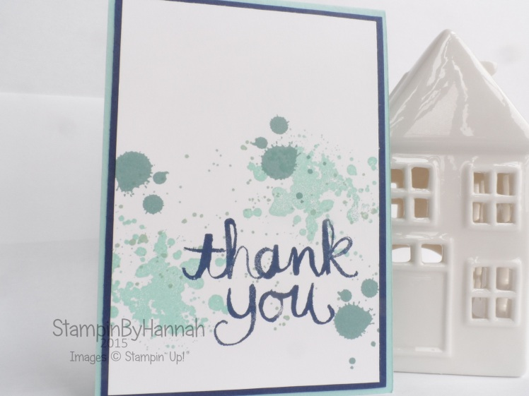 Stampin' Up! UK Watercolour Thank You mens card