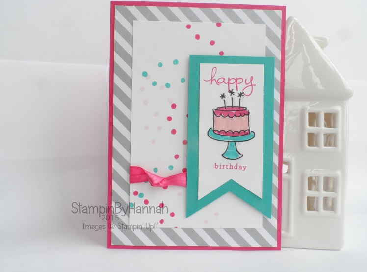 Stampin' Up! UK Endless Birthday Wishes Cake Card