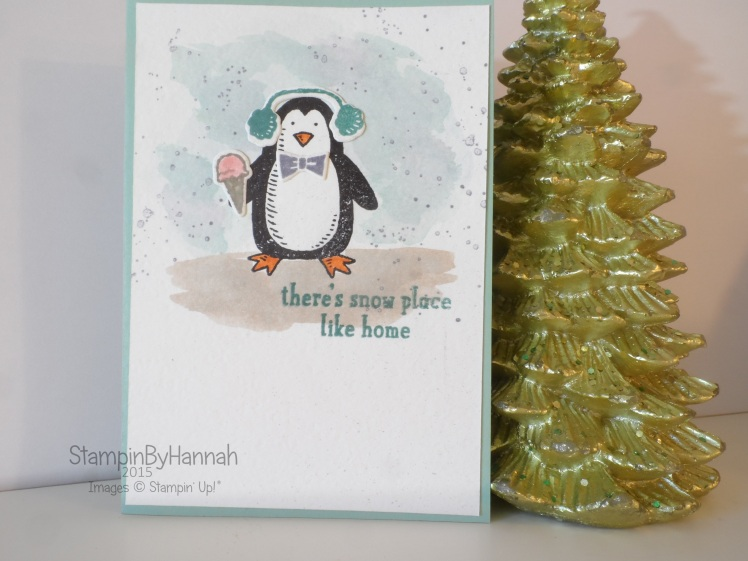 Stampin' Up! UK Snow friends Penguin Watercolour