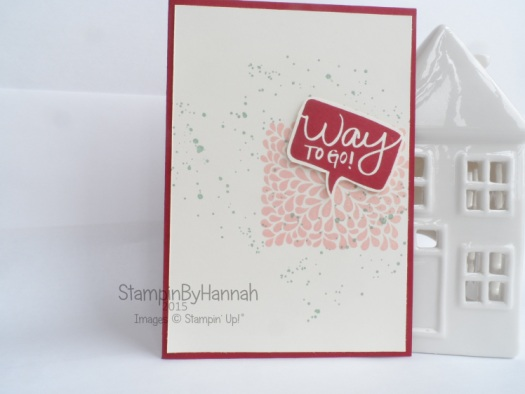 Stampin' Up! Way to go Congratulations card